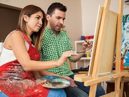 ¡Muestra tu lado artístico! $18 por 1 Clase nocturna de pintura en canvas + 50% de Descuento en clase de tango