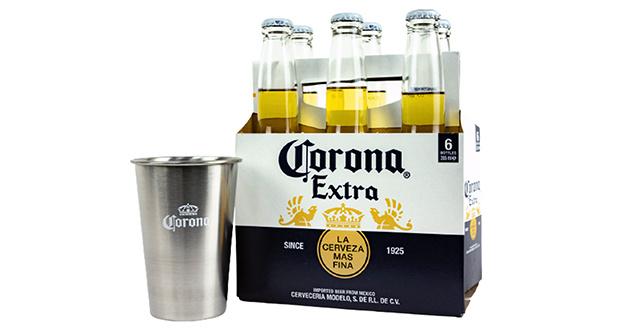 Corona Extra: Six Pack más vaso conmemorativo