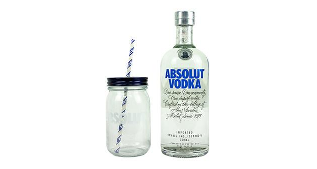 Absolut Vodka más vaso
