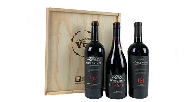 The Noble Vines: 3 botellas de vino tinto