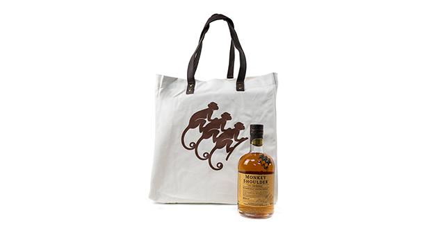 Bottle of Monkey Shoulder Scotch Whisky + Canvas Tote Bag