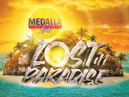 $25 por 1 Boleto GET LOST para el Medalla Light Lost in Paradise + Fast Pass + 1 Medalla; o $50 por 1 Boleto VIP + Fast Pass + Acceso al área preferencial con barras y baños privados, el SÁBADO, 2 de JULIO