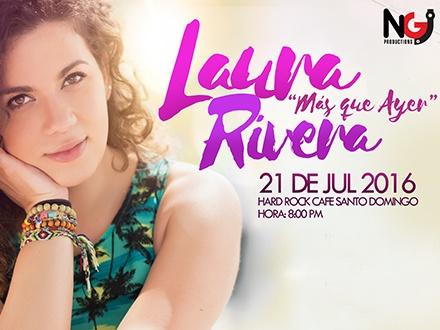 RD$550 por 1 Boleta para el concierto de Laura Rivera el 21 de JULIO a las 8:00 p.m.