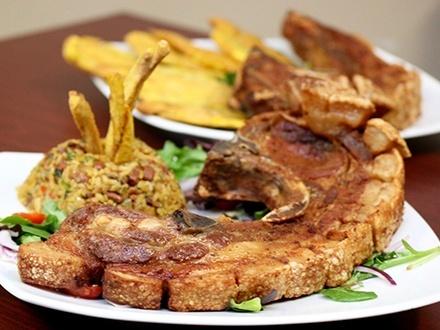 ¡Conoce el nuevo menú! $24 por 2 Platos a escoger entre: Chuleta Can-Can (2lbs), Pechuga rellena de mofongo y chorizo o mofongo y tocineta con 1 acompañante; o Mofongo de plátano, yuca o trifongo relleno de churrasco, pollo, mero, camarones, pulpo o dorado + 2 Sopas de la casa + 2 Copas de sangría + 1 Postre de la casa para compartir