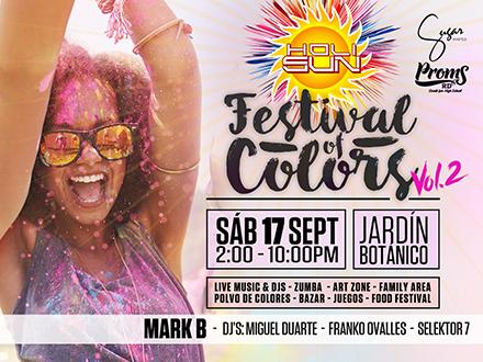 ¡El festival más colorido y divertido! RD$500 por 1 Entrada General al Holi Sun Festival of Colors el sábado, 17 de septiembre en el Jardín Botánico