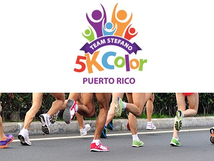 ¡Córrelo, camínalo o báilalo! $30 por Inscripción a la carrera el domingo, 15 de enero de 2017, incluyendo: 6 estaciones de colores + Bolsita de color + Medalla oficial + Número de participante + Camiseta oficial + Oasis + Clase de Zumba + 'After-Party' o $10 para el Kids Color Run (4 a 8 años de edad) a beneficio de Fundación Stefano