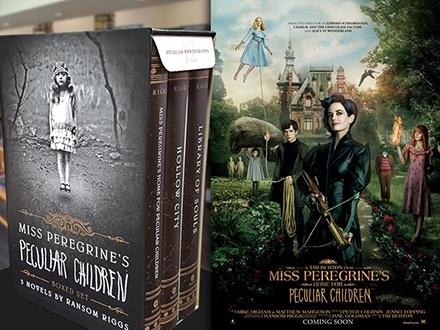 $34 por la Edición Limitada de la Trilogía 'Miss Peregrine's Home for Peculiar Children' por Ransom Riggs + Gorra + Poster oficial de la película + 2 Boletos para la función especial en San Patricio Plaza el 27 de septiembre