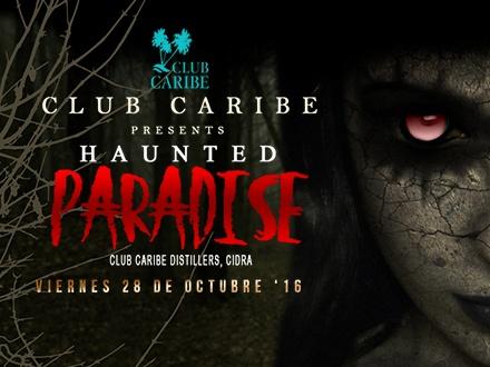 $19 por 1 Boleto para el 'HAUNTED PARADISE' que incluye: 2 Bebidas + Estacionamiento + Entrada a la casa embrujada + Música en vivo por banda Plagio y Dj King Arthur; el 28 de octubre de 2016