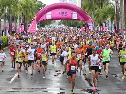$25 por Inscripción al Race for the Cure 5K para adultos o al Kids for the Cure para niños de 5 a 10 años, a beneficio de Susan G. Komen + Posibilidad de ganar 1 de 20 boletos para el Merodea Wears Pink