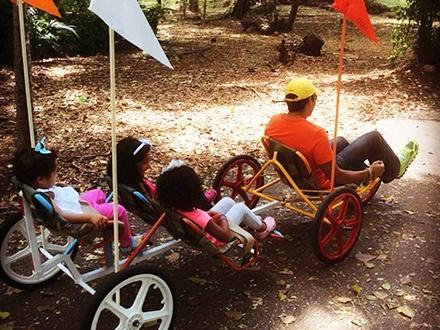 ¡Vive la experiencia de un paseo o un buen ejercicio en el Mirador Sur! Desde RD$99 por 1 Hora de Tricicletas Individuales y Dobles