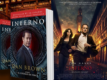 $16 para la compra del libro 'Inferno' por Dan Brown + Poster oficial de la película + 2 Boletos para la función especial en Guaynabo Cinema (Plaza Guaynabo) el 26 de octubre de 2016