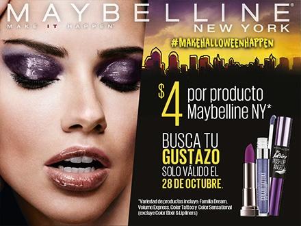 Adquiere este Gustazo GRATIS y consigue hasta 4 productos Maybelline NY a $4 cada uno