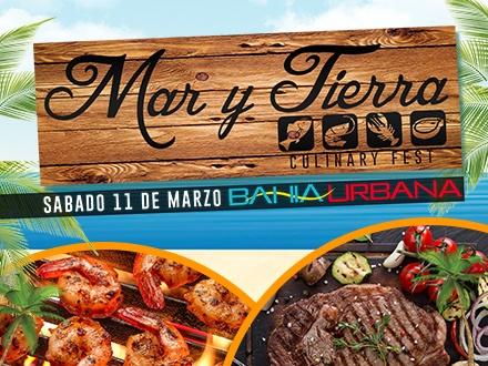 $15 por 2 Boletos para el Mar y Tierra Culinary Fest el SÁBADO 11 de MARZO, incluye: Fast Pass + Música en vivo de La Secta e Iván Robles + 2 Cervezas; con la participación de: Tijuanas, Rare 125, John Doe, Mar y Tierra Gourmet, El Nie, Que PezCa'o, Ceviche Totti, Yucaditas, Ficus, Flavor Fusion Cuisine, La Guarida de Don Elias, Los Pinos y Hazel Bar, entre otros por confirmar