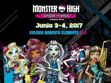 """$75 por 1 Boleto """"Meet and Greet"""" para el Monster High Show EN VIVO el 3 o 4 de junio de 2017 que incluye: Un espacio en las primeras 2 filas de sillas + Goodie bag + Maquillaje para las niñas + Entrada 30 minutos antes + Acceso para conocer y tomarse fotos con los personajes"""