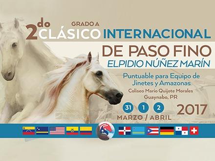"""$40 por 1 Boleto """"Weekend Pass"""" PALCO para el 2do Clásico Internacional de Paso Fino Elpidio Núñez Marín; el 1 y 2 de abril"""