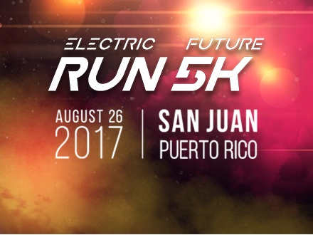 $20 por 1 Inscripción para el 'Electric Future Run' el sábado, 26 de agosto de 2017, que incluye: Estaciones de oasis + Medalla del evento + Acceso al Pre-Party y After Race Party con Dj's en vivo