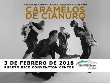 ¡Regresan a Puerto Rico a celebrar sus 25 años! $60 por 1 Entrada VIP para el concierto el sábado, 3 de febrero, incluyendo: Fast Pass + Área de vista preferencial + Barra privada + Banda conmemorativa