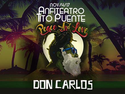 $25 por 2 Boletos Generales para el concierto de Don Carlos el sábado, 4 de noviembre de 2017