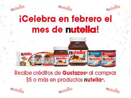 Buy, Snap, Earn con Nutella®