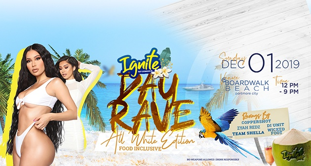 IGNITE Day Rave All White Edition - Boardwalk Beach