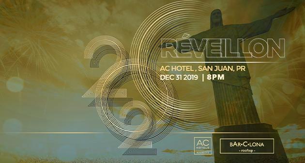 Réveillon 2020 - BAR•C•LONA-rooftop, AC Hotel by Marriott, San Juan